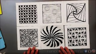 getlinkyoutube.com-6 Optical Illusion Drawing Techniques & Patterns