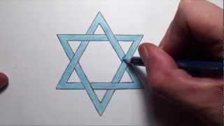 getlinkyoutube.com-How To Draw The Star of David - Step by Step