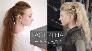 getlinkyoutube.com-Lagertha Vikings Warrior Ponytail How To