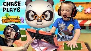 getlinkyoutube.com-Chase plays Dr. Panda's Restaurant 2!!  Cooking Food for Picky Dudes w/ FGTEEV Duddy   KIDS iOS APP