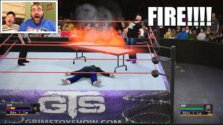 getlinkyoutube.com-GRIM DESTROYS DGDX in WWE 2K16 EXTREME RULES WRESTLING MATCH!