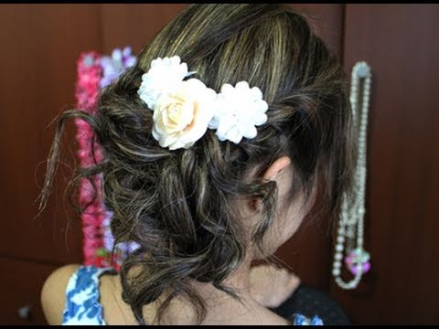 Easy Romantic Prom Updo Hair Tutorial
