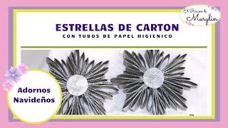 getlinkyoutube.com-ESTRELLAS PARA EL ARBOL CON TUBOS DE PAPEL HIGIENICO