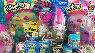 getlinkyoutube.com-Shopkins Frozen Fashems Surprise Egg Zelfs Minions Tokidoki Star Wars Unboxing Toy Opening