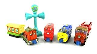 getlinkyoutube.com-✿ Веселые паровозики из Чаггингтона (игрушки) - Учим цифры  - развивающий мультик