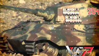 getlinkyoutube.com-Spotlight: VSTank® 1/24 King Tiger Henshel 3-Camo Battle Tank RTR