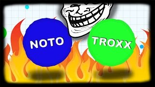 getlinkyoutube.com-Agario // ƬψƬ ☢ TROXX & NOTO insane Agario Gameplay // TYT Clan