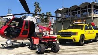GTA V - Rescue Mod #3 : Salva vidas em ação / Resgates aéreos