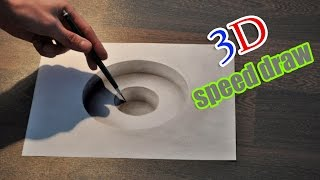 getlinkyoutube.com-Drawing 3D hole/ Illusion anamorphic painting
