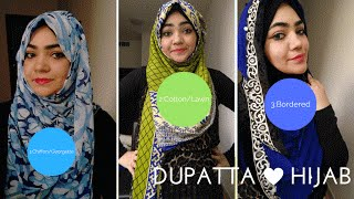 How to tie Hijab On Indian Dress with Dupatta-Part 1