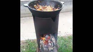 getlinkyoutube.com-Делаем печь для казана из газового баллона вместе.