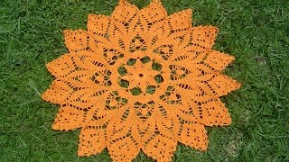 getlinkyoutube.com-Como tejer centro de mesa a crochet paso a paso 1/4