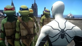 getlinkyoutube.com-Spiderman VS Teenage Mutant Ninja Turtles - Future Foundation Spider-Man