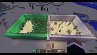 getlinkyoutube.com-Minecraft - Iron Golems VS. Zombies