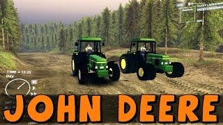 getlinkyoutube.com-SpinTires | Farming Simulator! John Deere 4x4 and 8x8 Tractors | Download Link In Description