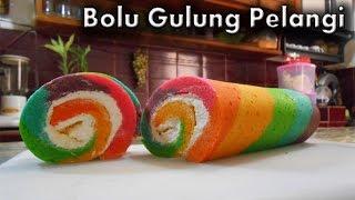 getlinkyoutube.com-Bolu Gulung Pelangi - Resep Bolu Gulung Pelangi (Rainbow Roll Cake)