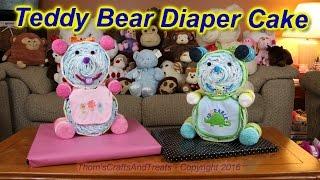 getlinkyoutube.com-Teddy Bear Diaper Cake