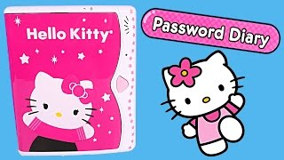 Hello Kitty Password Diary Electronic Childrens Journal HelloKitty Contraseña Diario Toy Review DCTC