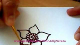 getlinkyoutube.com-How to draw a henna flower (Part 2)