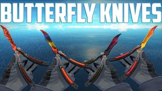 getlinkyoutube.com-CS:GO - Butterfly Knives - All Skins Showcase + Price | Все Скины Butterfly knives + Цены