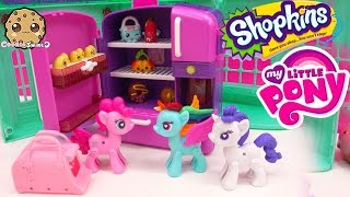 getlinkyoutube.com-POP MLP Pinkie & Rainbow Dash Unboxing Shopkins Season 4  5 Pack with So Cool Fridge with Petkins