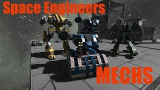 getlinkyoutube.com-Space Engineers Mech Battle