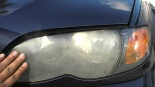 getlinkyoutube.com-BMW 325i Ugly Hazy Headlight Restoration by Headlight Restoration Service Florida
