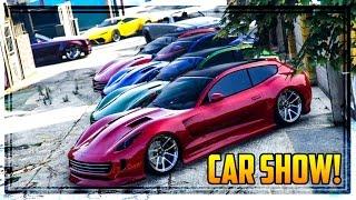 getlinkyoutube.com-GTA 5 Online 'FINANCE & FELONY' CAR SHOW! New Super & Sports Cars Showcased!