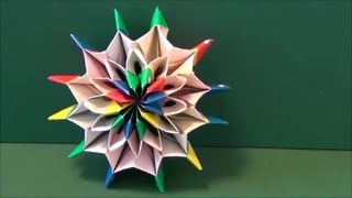 "getlinkyoutube.com-動く「花火」折り紙The ""fireworks"" which moves  origami"