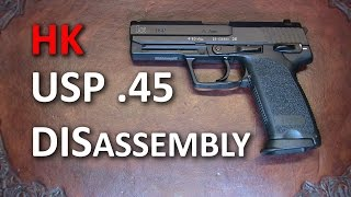 HK USP 45 Complete Disassembly Detail Strip