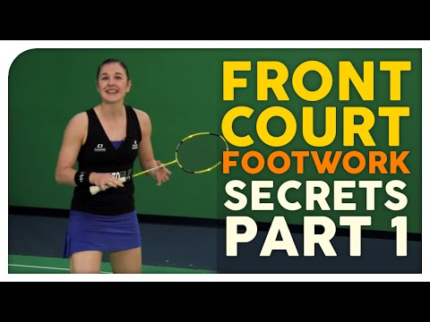 FREE Badminton Training - Front Court Footwork Secrets Video #1 - Better Badminton