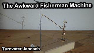 getlinkyoutube.com-The Awkward Fisherman Machine - Kinetic sculpture - Flying pendulum escapement - Table-top mobile