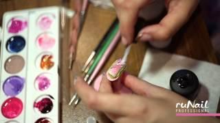 getlinkyoutube.com-Дизайн на коротких ногтях лаками, гелями, гель-лаками