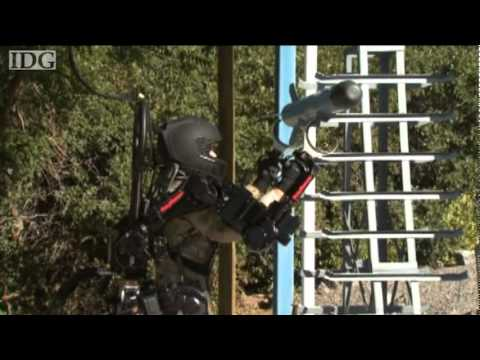 Raytheon shows off the XOS2 Exoskeleton robotic suit