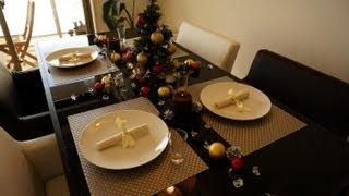 100均でクリスマステーブルコーディネート - christmas table decor by 100yen items
