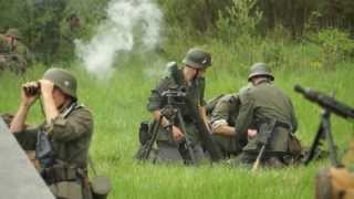 getlinkyoutube.com-WW2 German Army 8cm Mortar Fire - GrossDeutschland