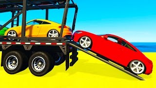 Fun SMALL Cars Transportation for Kids and Spiderman Cartoon w Colors for Children Nursery Rhymes
