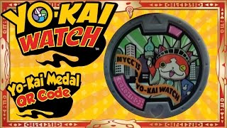 getlinkyoutube.com-Yo-Kai Watch - Yo-Kai Medal QR Codes | U.S. NYCC Jibanyan Medal! [Tips & Tricks]