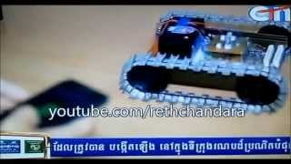 getlinkyoutube.com-Khmer Technology first robot with smart phone