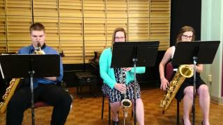 getlinkyoutube.com-Don't Stop Believin' - Low Woodwinds Trio - 2 Baritone Saxophone 1 Bass Clarinet