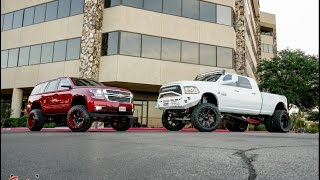 getlinkyoutube.com-The perfect lifted couple! Couple builds RAM and Tahoe together! (Burn outs included!)