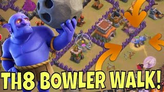getlinkyoutube.com-TH8 BOWLER WALK?! WHY NOT!! GOVABO at Town Hall 8 in Clash Of Clans