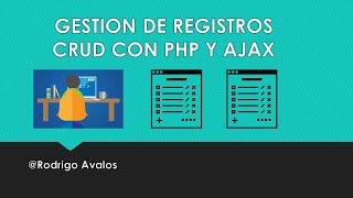 getlinkyoutube.com-Gestion de Registros (CRUD) - PHP + JQuery + Ajax + MySql