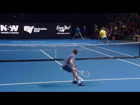 Thiem nails a behind the back winner - Fast4 Sydney