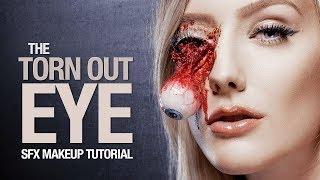 getlinkyoutube.com-Torn out eye special fx makeup tutorial