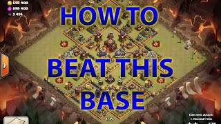 getlinkyoutube.com-Clash Of Clans - How To Beat This New Popular Townhall 10 (TH10) War/Legends League Base - 275 Walls