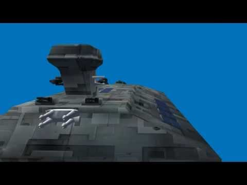blue screen effect - spacecraft battleship