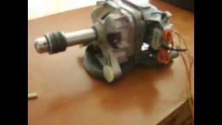 getlinkyoutube.com-Como aprovechar un motor en deshuso de una lavadora secadora