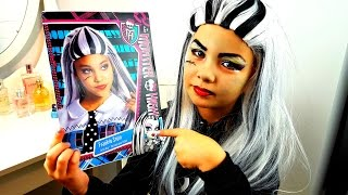 getlinkyoutube.com-АКВА ГРИММ Монстер Хай 🏳️🌈 Halloween make up tutorial monster high Frankie Stein DIY Хеллоуин 👻