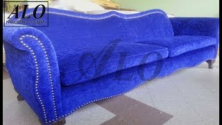 getlinkyoutube.com-HOW TO UPHOLSTER A NEW SOFA FRAME - ALO Upholstery